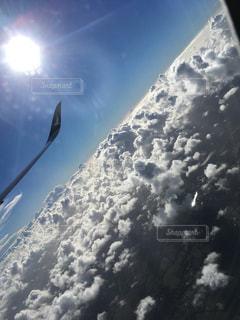 太陽,白,雲,飛行機,ホワイト