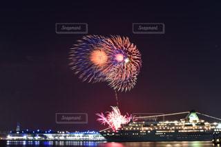 夜空の花火の写真・画像素材[1320227]