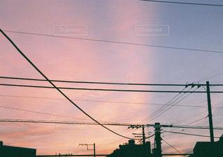 空,秋,雲,朝焼け,朝,フィルム,早朝,グラデーション,秋空,フィルム一眼レフ
