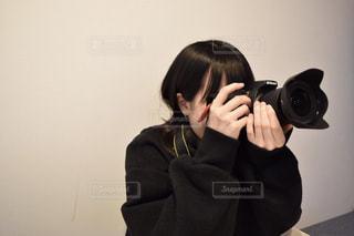 カメラ女子の写真・画像素材[1830085]