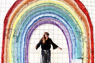 メルローズの虹のアーチ🌈の写真・画像素材[1000740]