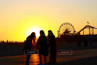 海,夕日,観覧車,アメリカ,観光,USA,LA,sunset,ベニスビーチ,Venice,Los Angeles,アメリカ旅行,Venicebeach,LA旅行,アメリカ観光