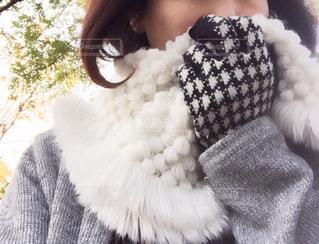 女性,冬,手袋,スヌード,ほわほわ,防寒対策