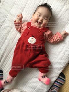 赤ちゃんの笑顔の写真・画像素材[838127]