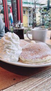 コーヒー,パンケーキ,COFFEE,ハワイ,ホイップクリーム,休日,ホイップ,ハワイアン,おでかけ,お出かけ