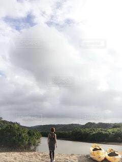 自然,空,沖縄,樹木,人物