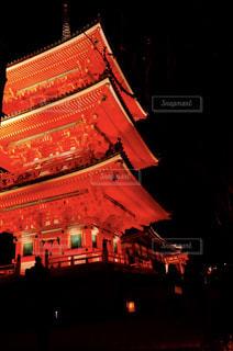 清水寺のライトアップの写真・画像素材[911129]