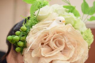 花,鳥,フラワーアレンジメント,結婚式,フラワーアレンジ