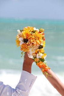 空,花,花束,フラワーアレンジメント,フラワー,オレンジ,ブーケ,フラワーアレンジ,オレンジ色