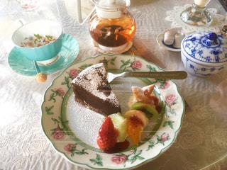 カフェのケーキセットの写真・画像素材[884855]