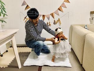 1歳バースデーの写真・画像素材[2384515]