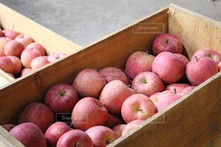 屋外,赤,フルーツ,市場,りんご
