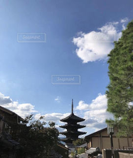 空,屋外,京都,青,観光,五重塔,寺,八坂の塔,法観寺