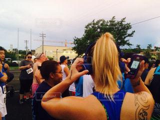 マラソン大会 高まる気持ちの写真・画像素材[996683]