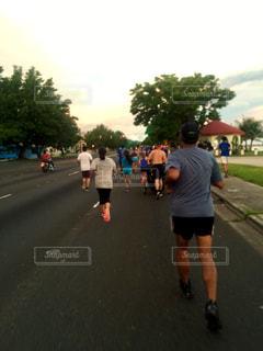 家族,スポーツ,朝日,走る,イベント,ジョギング,ランニング,マラソン,グアム,日の出