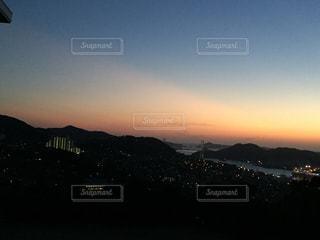 夜景,夕暮れ,水面,港,長崎,長崎港,風頭山