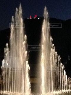 夜,山,噴水,祈り,長崎,稲佐山,平和公園