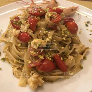 イタリア,pasta,シチリア,エビとピスタチオのパスタ