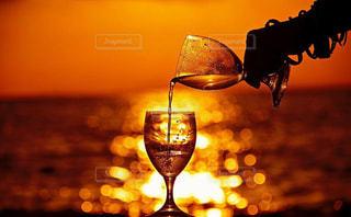 ワインのガラスの写真・画像素材[1071976]