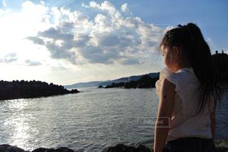 海,女の子,長崎県,故郷,雲仙市,大好きな場所,橘湾