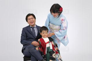 七五三の家族写真の写真・画像素材[864576]