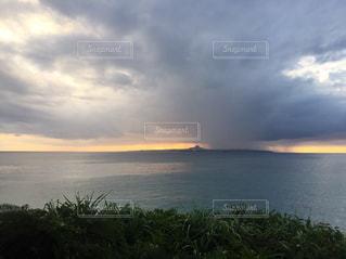 夕日,ビーチ,沖縄