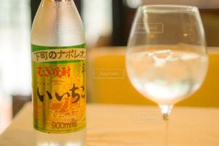 クローズ ボトル、ワインのガラスのの写真・画像素材[1261652]