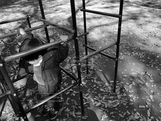 ジャングルジムと子どもの写真・画像素材[852609]