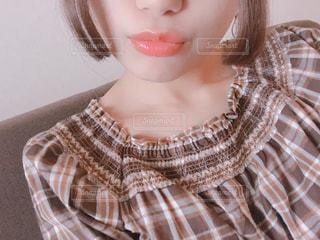 取って、selfie ピンクの髪の女の写真・画像素材[852090]