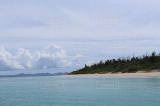 海,空,雲,きれい,砂浜,沖縄,旅行,水納島