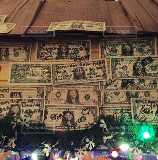 屋内,アメリカ,旅行,お金,アラスカ,ドル,1ドル,オーロラ観測