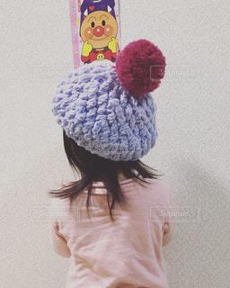 帽子,子供,ベレー帽,ニット,編み物
