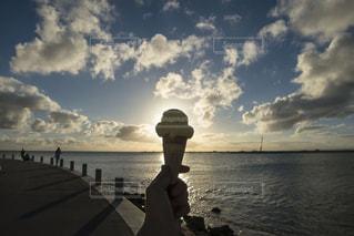 海,屋外,太陽,沖縄,観光,逆光,旅行,アイス,日本,okinawa,瀬長島,Travel