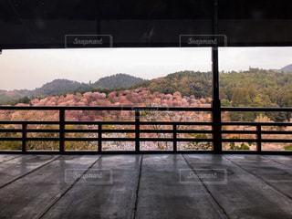フェンスを越えて長い橋の写真・画像素材[1127295]