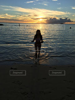空,夕日,旅行,ハワイ,ワイキキ,ワイキキビーチ