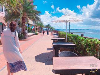 海,夏,沖縄,観光,北谷