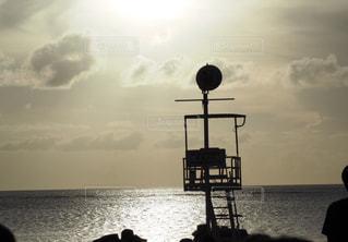 風景,空,夕日,雲,水面,海岸,夕陽,サンセット,日中