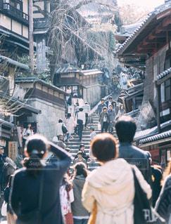 清水寺,群衆,京都,山道,観光