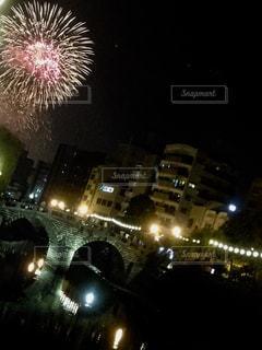 夏,夜,花火,祭り,長崎,眼鏡橋