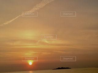 空,夕日,太陽,夕暮れ,軍艦島,長崎