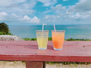 風景,海,空,ジュース,雲,沖縄,景色,旅行,昼,トリップ