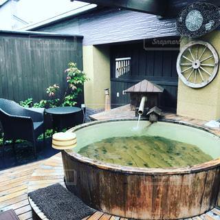 貸切露天風呂の写真・画像素材[987301]