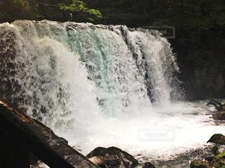 奥入瀬渓流の滝の写真・画像素材[1020550]