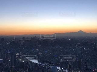 空,夕日,東京,スカイツリー