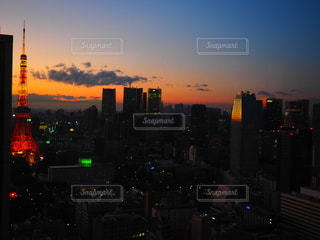 東京タワーと夕暮れの写真・画像素材[3489470]
