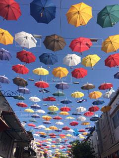 傘,カラフル,パラソル,梅雨,天気,晴空,雨の日