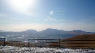 背景の山と水体 - No.858991