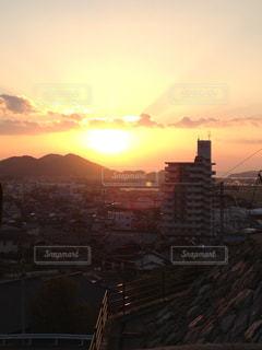 福岡 和カフェ 夕日