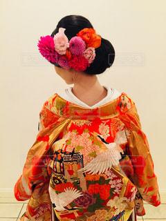 生花の髪飾りの写真・画像素材[904744]