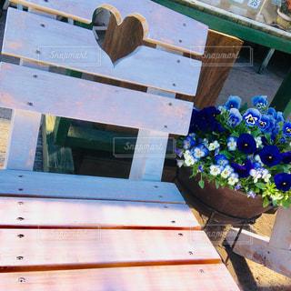 ハートのいすの写真・画像素材[1127927]